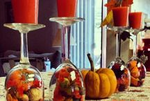Thanksgiving table decorations / by Michelle Black