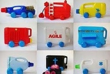 Arte infantil/Brinquedos com Sucatas / by Giovana Brust