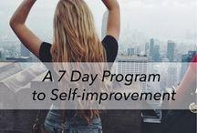 self improvement / by Nancy O'Brien