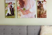 wedding photo display / by Stephanie Bartok