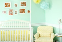 A Mint, Yellow and Grey Nursery / Looking at mint, yellow and grey as the nursery colour palette.  / by Molly Forbes