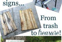 words on wood / by Debbie Thornton