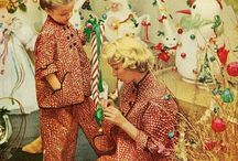 vintage Christmas decorations / by Vicki Nolley