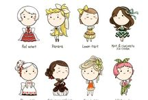 personajes / by eva madrid santander