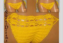 Bottom ,Swimsuit,Bikini Top / Crochet / by Sweet Dreams