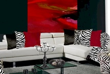 Black/White/Red / Black, White, and Red.  A very cool look! / by Anything Animals  Decor N Linens