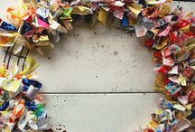 Wreath out of cloth  / by Linda McCormick