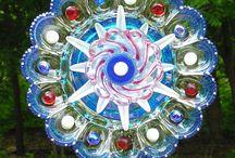 glass yard art / by Jennifer Turner
