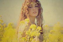 wildflower / meadow, garland, flowers, girls, romantic / by jenny m