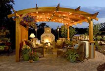 OUTDOOR  SPACES / I get a thrill from a lovely outdoor seating area.  Food tastes better outside, flowers fill the air with perfume and you are surrounded with color.   / by Marnie Fuchs Martin