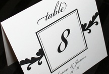 Diverse kaarten / Tafel nr's / dagprogramma / menukaart enz.  / by De Trouwkaart Online