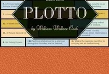 """Plotto: The Master Book of All Plots by William Wallace Cook / William Wallace Cook was born in Marshall, Michigan, in 1867. He was the author of a memoir, The Fiction Factory, as well as dozens of Westerns and science-fiction novels, many of which were adapted into films. He was nicknamed """"the man who deforested Canada"""" for the volume of stories he fed into the pulp-magazine mill. He spent five years composing Plotto before finally publishing it in 1928. Cook died in his hometown of Marshall in 1933. / by Tin House"""