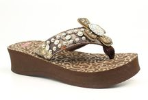 Women's Flip Flops / Skip's carries a full line of bedazzled women'sflip flops! Order online at SkipsBoots.com, or stop by our Osteen, FL or Daytona Beach, FL stores! / by Skip's Boots