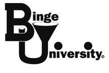 "Binge University / Binge university apparel and party pictures.  ""Like"" Binge University on Facebook / by Kimber Lee Joy"