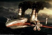 airplane / by Toshiyuki Manabe