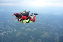 SkyDiving / 2 jumps ... 6/6/2003 and 8/18/2013 ...  We are in the insurance business evaluating risks daily. I figured I should probably investigate what the underwriters are so worried about!!!! ;-) / by Linda Rey