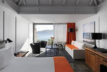 Ocean Balcony Junior Suite / The Ocean Balcony Junior Suites are located on the cape facing the ocean with amazing sunsets and offer 462 square feet of modern comfort with a designers seating area to relax on the sound of the surf. With a balcony facing the finest sea view. Beautifully appointed bathrooms and shower. / by Hotel Christopher St Barth