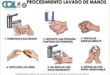 """Campaña """"Lavate las manos"""" / Imágenes e infografías para la campaña """"Lavate las manos""""  / by Nancy Morales"""
