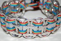 Pop Can Bracelets / by Rita Phillips