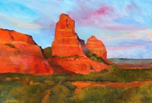 """Bernard Marks / """"While I was primarily a figurative painter at one time, my work gained a new focus after I moved to the Southwest in 2003 and began spending more time doing plein air painting. I'm especially inspired by the long vistas one experiences in the West. I appreciate the variety of colors, shapes and textures, especially in New Mexico, where I live."""" / by Waxlander Gallery"""