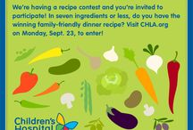 Good & Good for You Recipe Contest / The contest has ended. Congratulations to Elise Hay, the grand prize winner from the Good & Good for You Recipe Contest! Her Crispy Baked Polenta with Black Beans will be featured on the hospital's menu. / by Children's Hospital Los Angeles