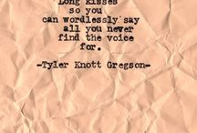 Typewriter Series | Tyler Knott Gregson / by Rhian Taylor