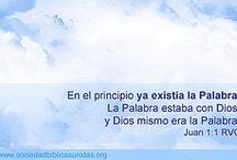 Evangelio de Juan / versiculos de la #biblia / by Sociedad Biblica Chilena