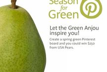 """Pear-fect Season for Green"" / foods using pears in the ingredients / by Jennifer Essad"