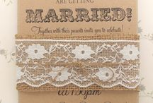 Rustic Wedding Invitations / by The Kaaterskill