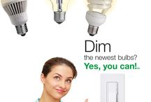 Yes, You Can! / Lutron C.L dimmers were designed specifically for dimmable #LED and compact fluorescent bulbs, as well as #halogens and incandescents. #YesYouCan install a #dimmer! / by Lutron Electronics