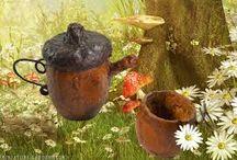 Acorn Miniatures / Miniature garden items that can be made with acorns. / by Klehm Arboretum & Botanic Garden