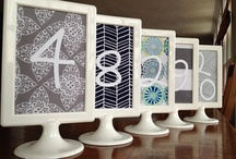 Wedding Table Numbers / by A Modern Proposal - Edmonton Wedding Planner
