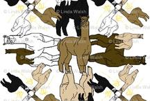 L. Walsh Alpacas Rock Fabric / by Debbie Keskula Bohringer