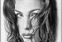 HAND DRAWN PORTRAITS !! / by Alice Pouliou