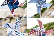 Holiday: July/ America/ Red White Blue/July  /  #memorial day, #redwhiteandblue, #america, #4thofjuly, #starsandstripes #pinwheels / by House Of Joyful Noise