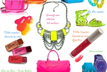Florescents & Neon shades for Spring / Spring trends, bright neon's / by TINte Cosmetics