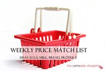 Price Match Lists & Roundups / by The Cents'Able Shoppin