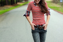 In the Closet ~ Stripes & Dots / Striped and dots tee outfits / by {Living Outside the Stacks}