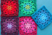 Crochet squares / The idea behind this board is to be able to design and crochet blankets with different squares / by Marthelene