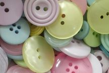 button button who's got the button / Ever since I played with my Mother's buttons in her glass kraft peanut butter jar as a little girl, I have loved buttons. / by gayle