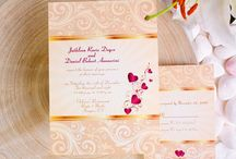 Gold Wedding Invitations / by InvitesWeddings