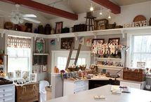 Crafty rooms, craft room organizers, craft room organizing ideas, small craft room ideas / For handmade items to be displayed and neatly when you day is done / by Jacqueline Marchant