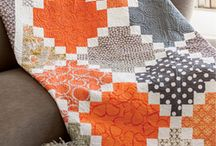 My Tangerine Dream Pattern made by others / This quilt pattern was published in the Oct/Nov issue of Quilty magazine. / by Cynthia Brunz Designs