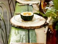 Table settings/designs / by Peggy Long Jones