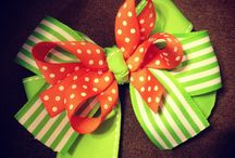 Ribbons, Bows & Flowers / Home made ribbons, bows & flowers / by Myrna Kelley
