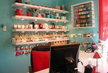 office/craft room. / by Kristel Wyman