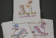My Hand-Embroidered Dish Towels / by Ross Sveback