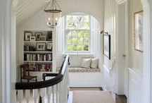 Stairs and Landing Inspiration / Small hallway, stairs and landing with larger than average window / by Louise Atkins