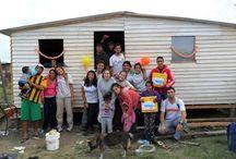 1 solo lugar - 100.000 historias / Durante abril, #voluntarios de una docena de países, representantes de la empresa logística DHL, se unieron a las #comunidades con las que Techo trabaja para alcanzar juntos la construcción de la #vivienda de emergencia 100.000.  Suma la tuya utilizando #HistoriasTECHO o ingresando a http://historias.techo.org/  ¡Queremos juntarlas todas. Queremos conectarlas todas! / by TECHO. Org