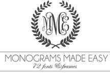 Monograms / monograms / by 22gardenstreet